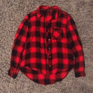 Forever 21 Red and Black Flannel